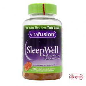 美國Vitafusion Sleep Well褪黑素改善失眠睡眠小熊軟糖 3mg 60粒/瓶