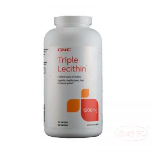 GNC Triple Lecithin 1200mg 180 softgels(new packing)