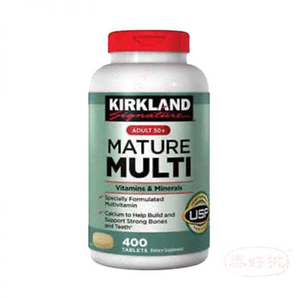 Kirkland Signature Adult 50+ Mature Multi Vitamins&Minerals 400 Tablets
