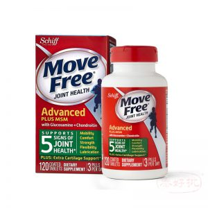 Move Free Advanced Plus MSM, 120 tablets - Joint Health Supplement with Glucosamine and ChondroitinS